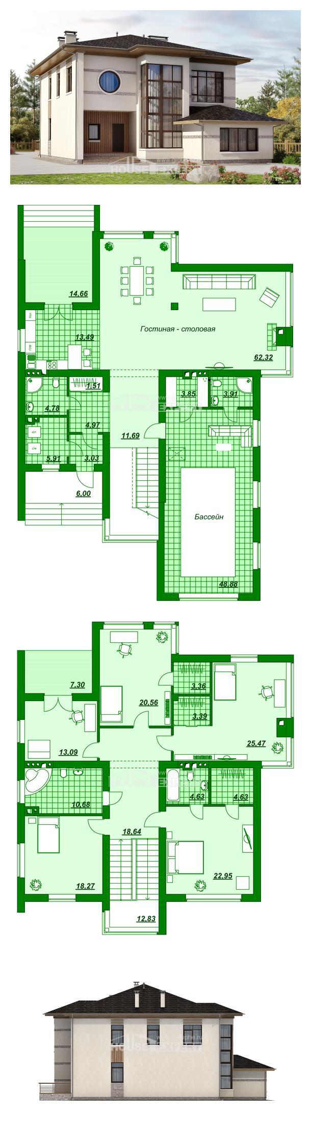 Проект дома 345-001-П   House Expert