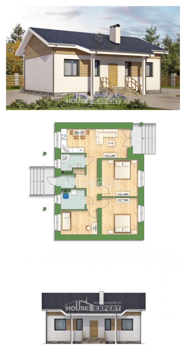Проект дома 080-004-П | House Expert